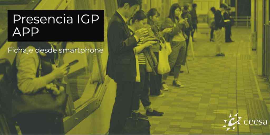 registro horario desde smartphone
