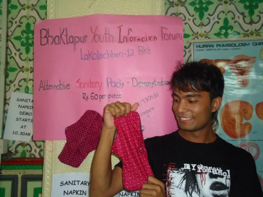 Home made sanitary pad demonstration
