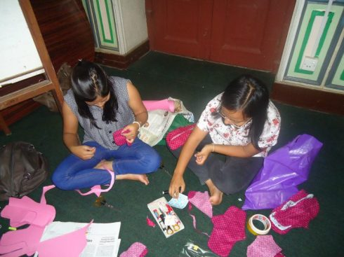 Preparing Hone made Sanitary Pad