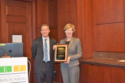 Senator Baldwin and Jeff Carter Award Presentation