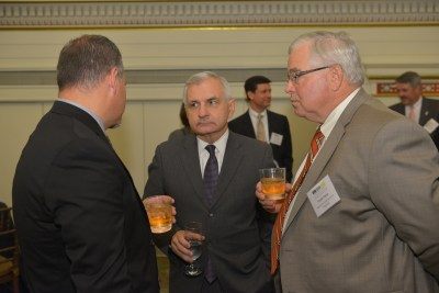 Senator Jack Reed, center, speaking with Gala guests