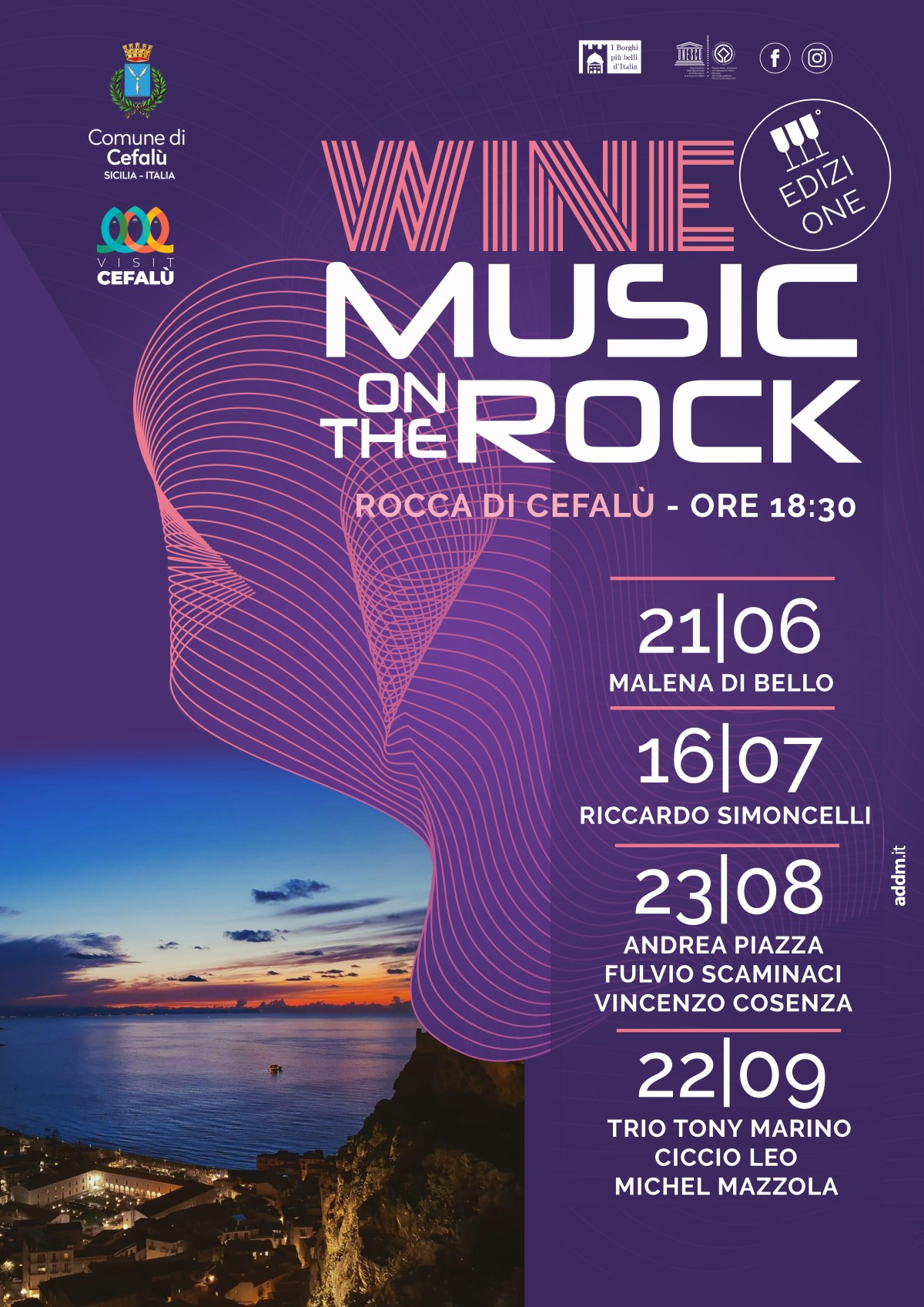 wine music on the rock cefalù