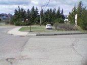 Car on Sidewalk