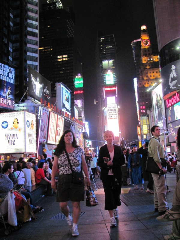 Couple in Times Square