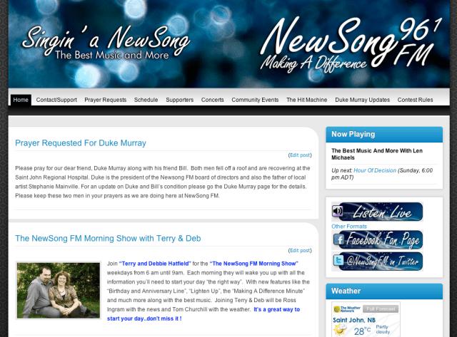 NewSong FM Screen Shot 2011-10-09