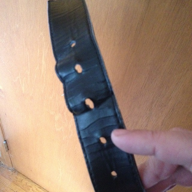 OMG! I now have to now use 2 smaller belt holes then when I bought this belt at Christmas time!