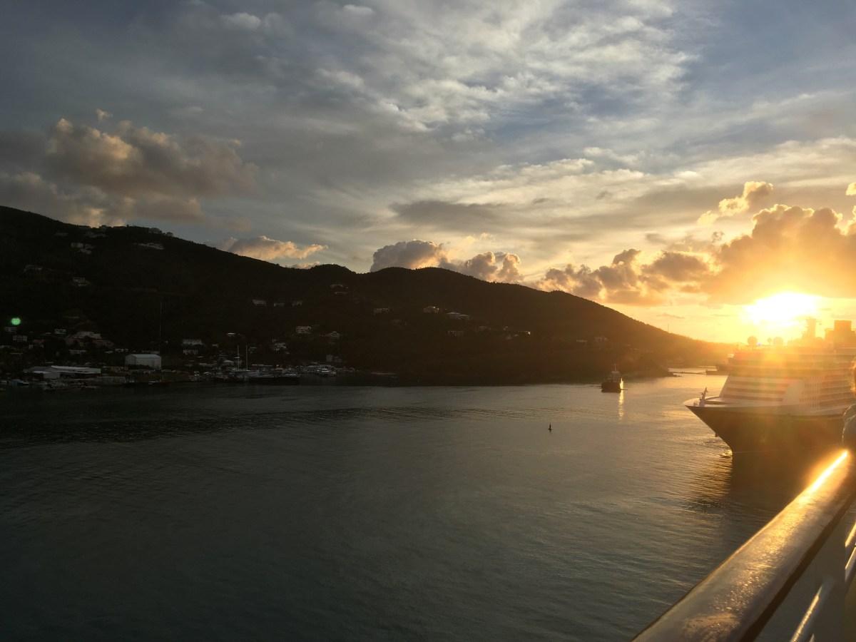 Sunrise over Tortola BVI