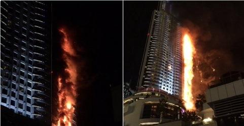 hotel dubai incendio