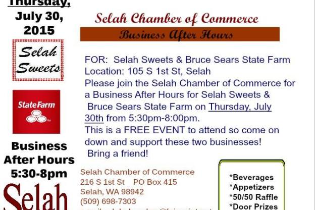 Business After Hours at Selah Sweets and Bruce Sears State Farm
