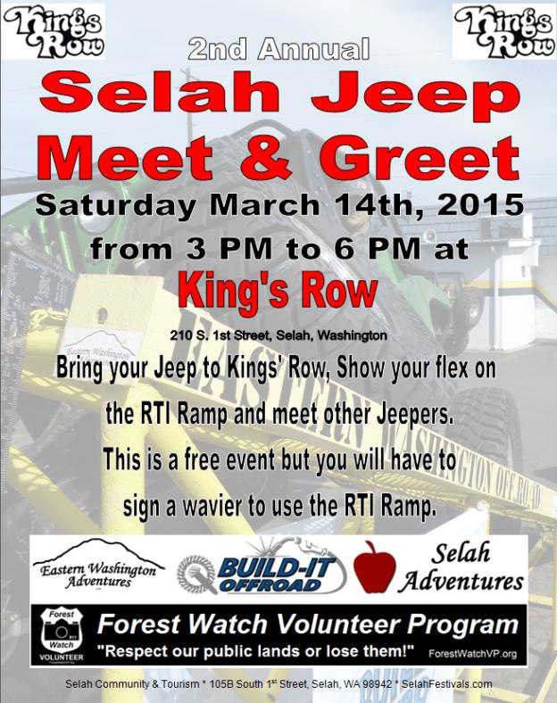 Upcoming: Selah Jeep Meet & Greet at King's Row this Saturday! 1
