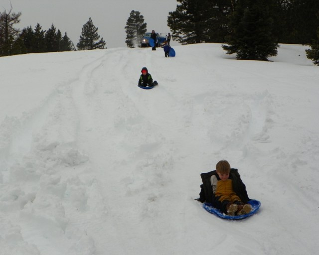 Sledding/Snow Wheeling Run at the Ahtanum State Forest 89