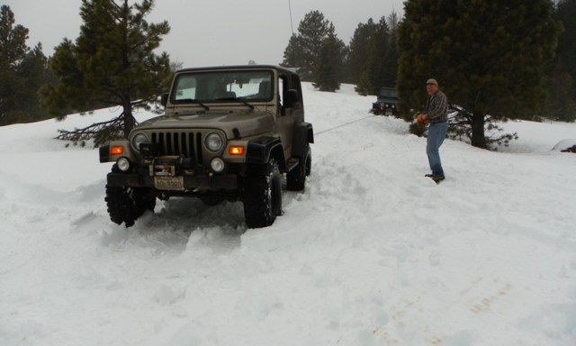 Sledding/Snow Wheeling Run at the Ahtanum State Forest 98