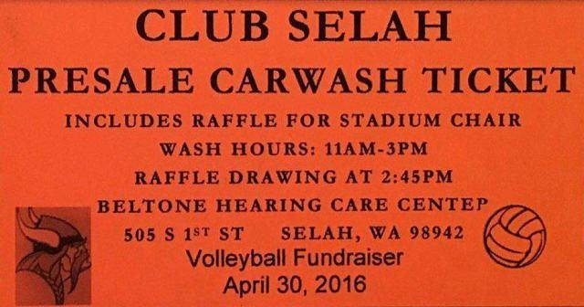 Club Selah Presale Carwash Ticket