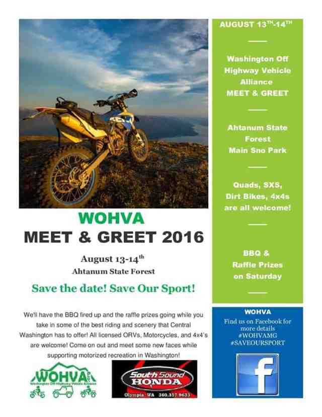 Washington Off Highway Vehicle Alliance (WOHVA) Meet & Greet