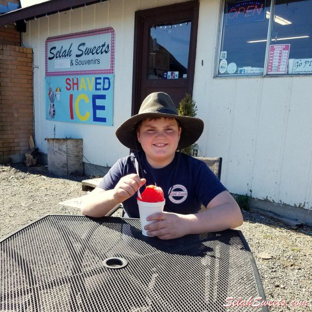 Selah Sweets Tigers Blood Shaved Ice