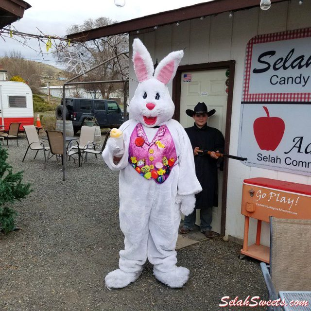 Easter Bunny likes Cactus Juice Shaved Ice
