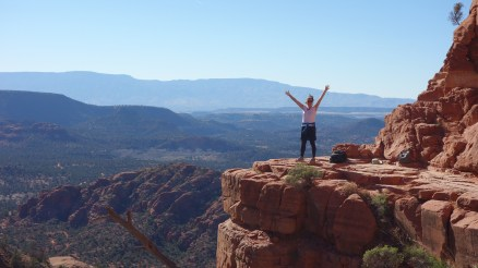 Scaling the red monoliths of Sedona in northern Arizona