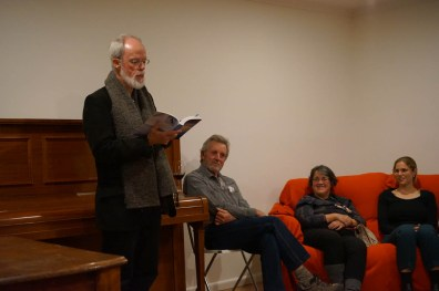 Tom reads at the soiree