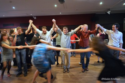 Dancers at a ceilidh