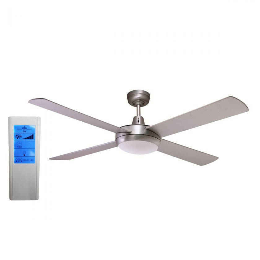Rotor 52 Inch LED Ceiling Fan Brushed Aluminum with 24W
