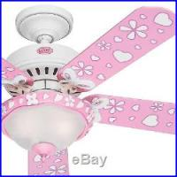Hunter 44 White Flower Finish Ceiling Fan Swirled Marble ...