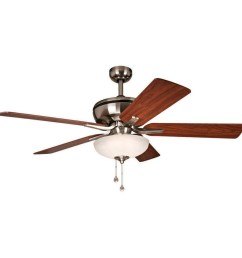 harbor breeze eco breeze 52 in brushed nickel downrod mount ceiling fan with led light kit [ 900 x 900 Pixel ]