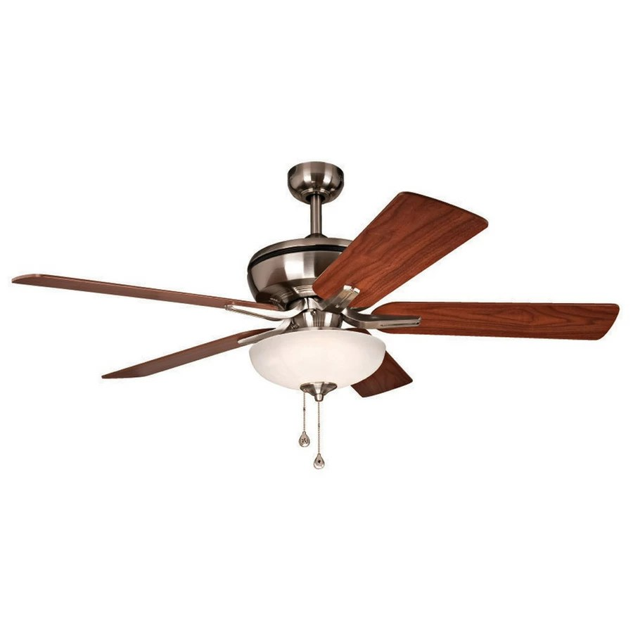 medium resolution of  harbor breeze eco breeze 52 in brushed nickel downrod mount ceiling fan with led light kit