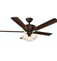 hampton bay campbell mediterranean bronze ceiling fan with remote control manual [ 1000 x 1000 Pixel ]