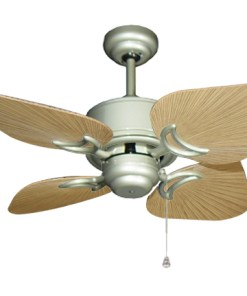 35 inch Bombay Brushed Nickel and Tan Ceiling Fan