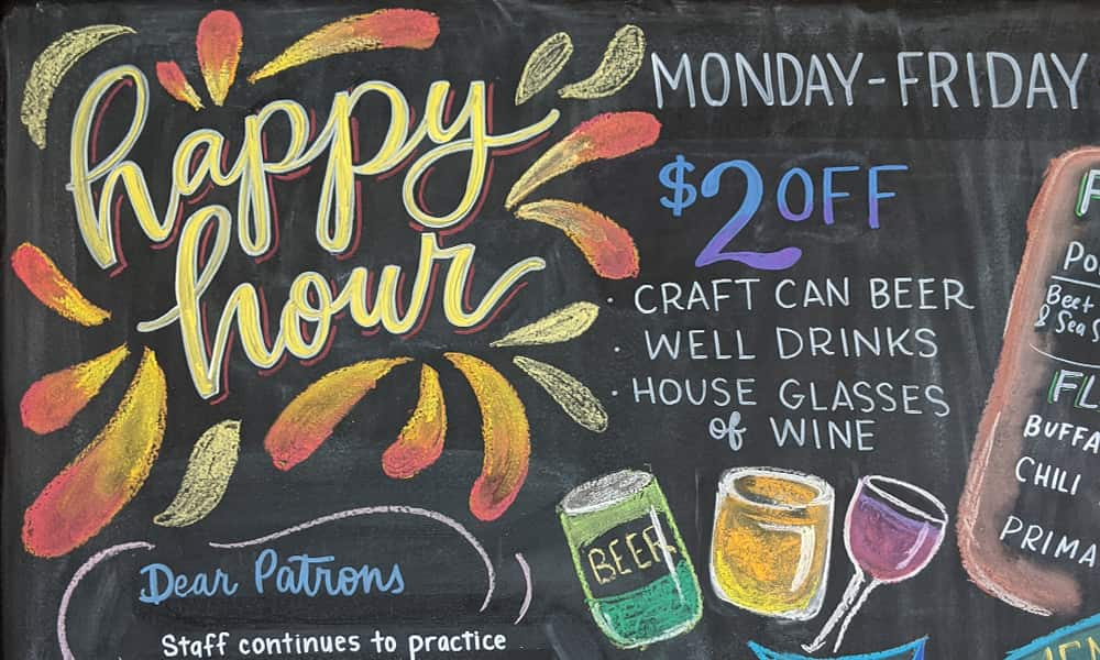 CeindyDoodles Chalkboard NEST Lettering Gradients and Drinks