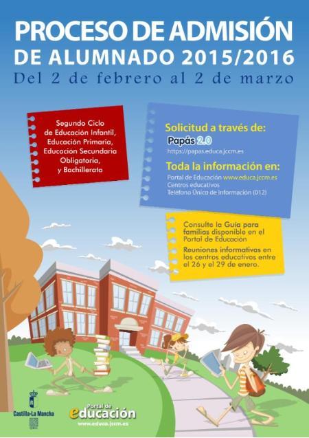 Proceso admisin alumnado 201516  CEIP Las Castillas Torrejn del Rey Guadalajara