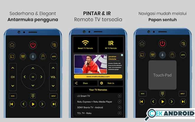 TV remote application without infrared