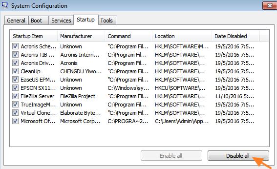Mulai Windows dalam Status Boot Bersih