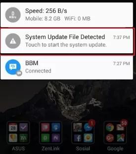 notifikasi update firmware android