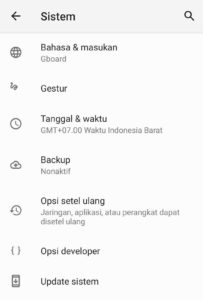 update firmware android secara Otomatis