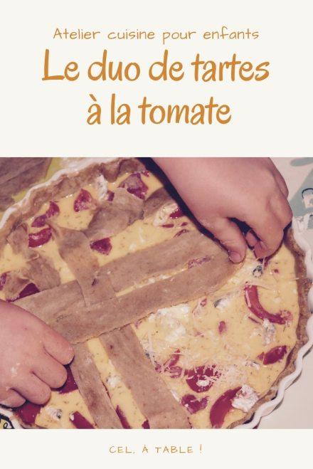 Atelier cuisine pour enfants : un duo de tartes à la tomate