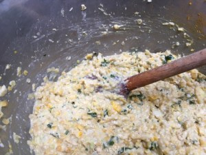 Le mélange avant cuisson