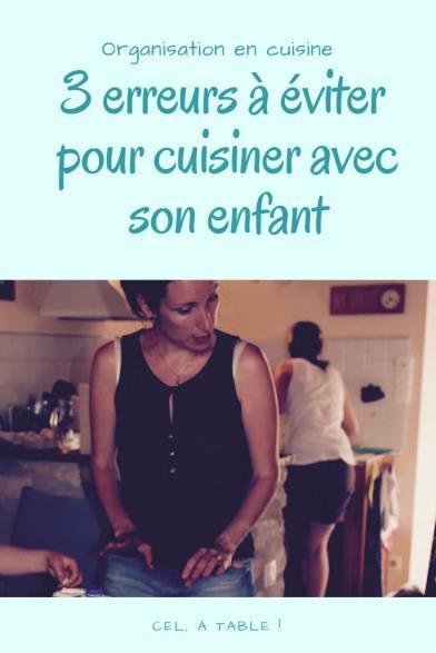 3 erreurs à éviter pour cuisiner avec son enfant