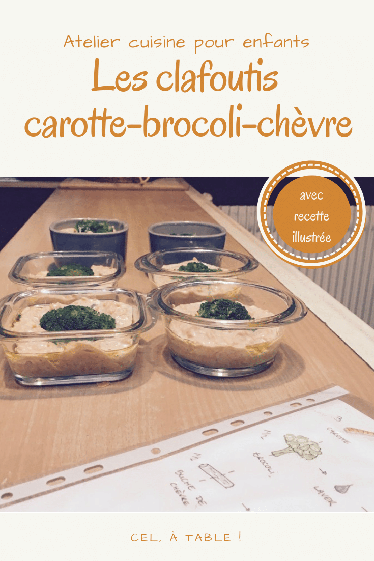 clafoutis salé carotte-brocoli-chèvre