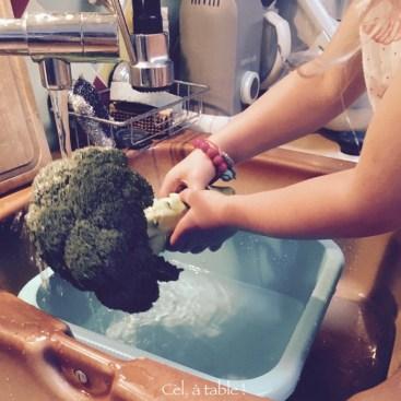 laver le brocoli
