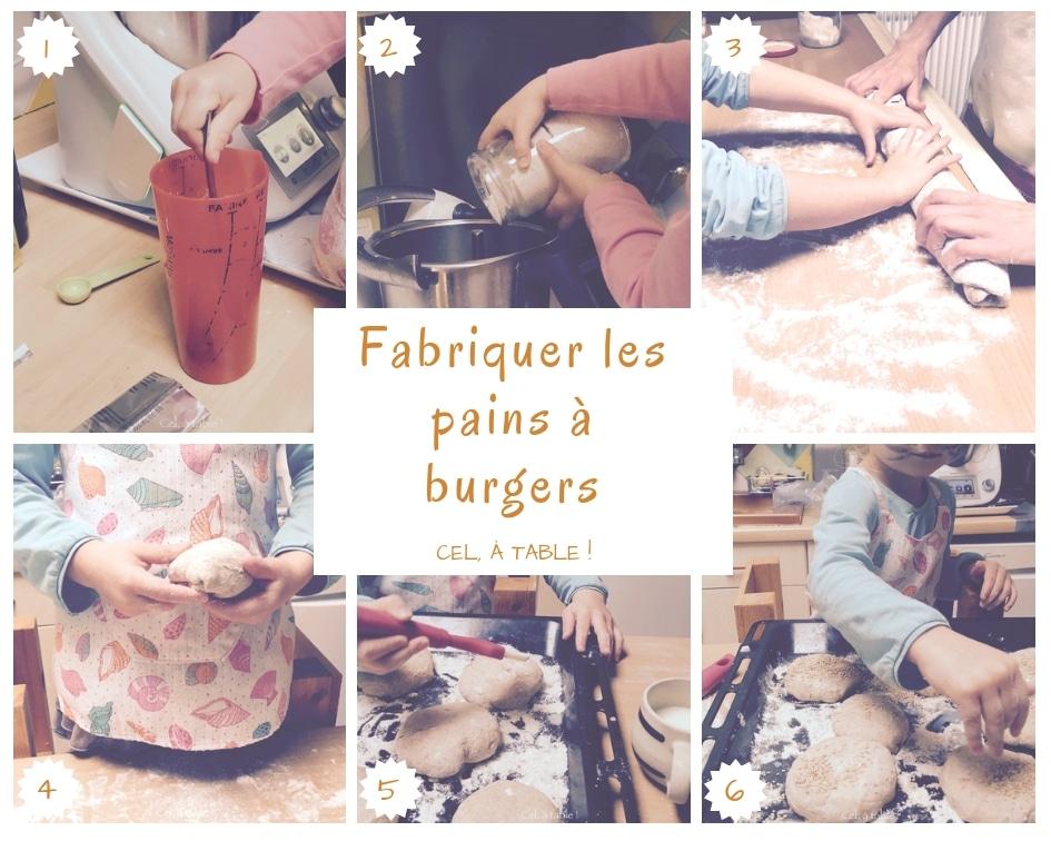 Les étapes de fabrication des pains à burger