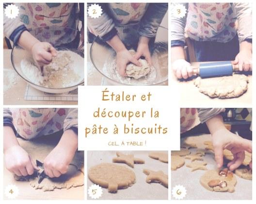 Les étapes pour étaler et découper de la pâte à biscuits