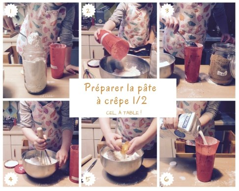 étapes de préparation de la pâte à crêpe