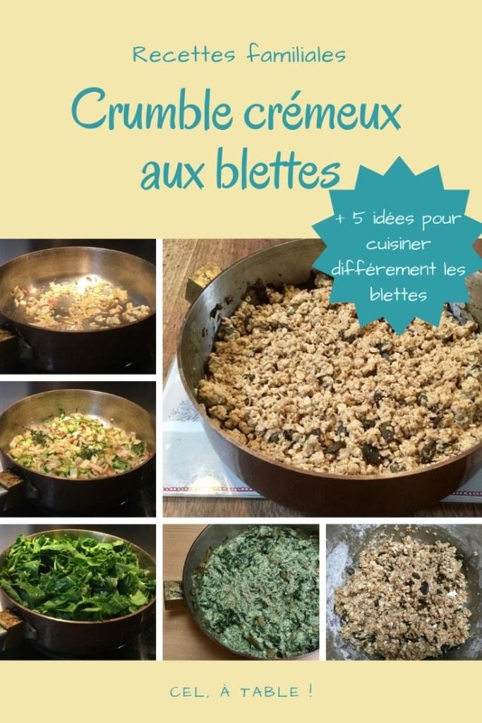 recette de crumble crémeux aux blettes