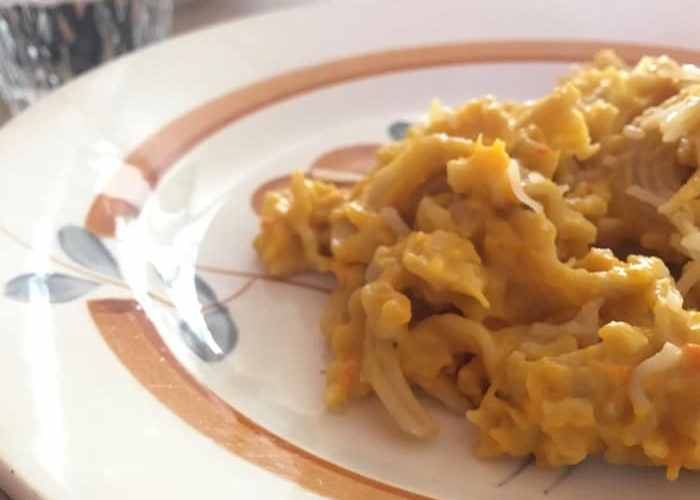 pâte sauce butternut