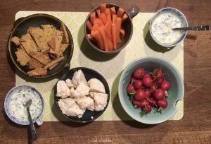 apéritif avec légumes de printemps