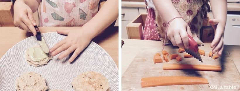 apprendre aux enfants à utiliser un couteau pour couper ou tartiner