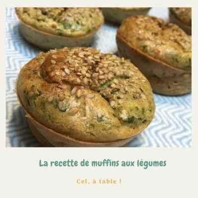 recette de muffins de légumes (aux blettes)