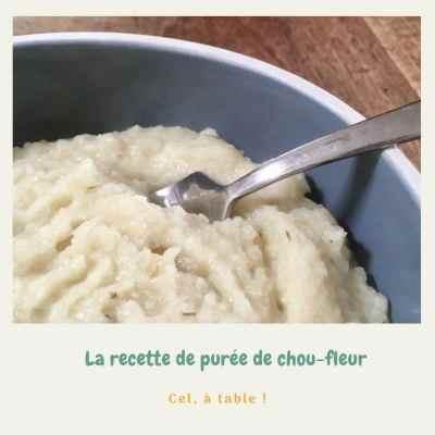 recette de purée de chou-fleur