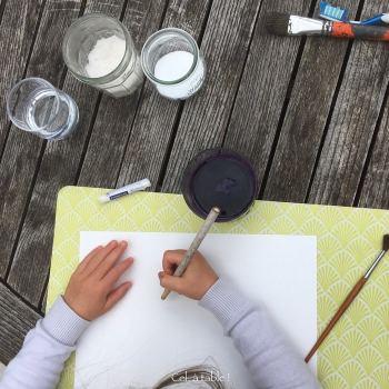 matériel de peinture pour expérience végétale